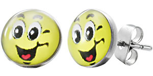Ohrstecker Smiley